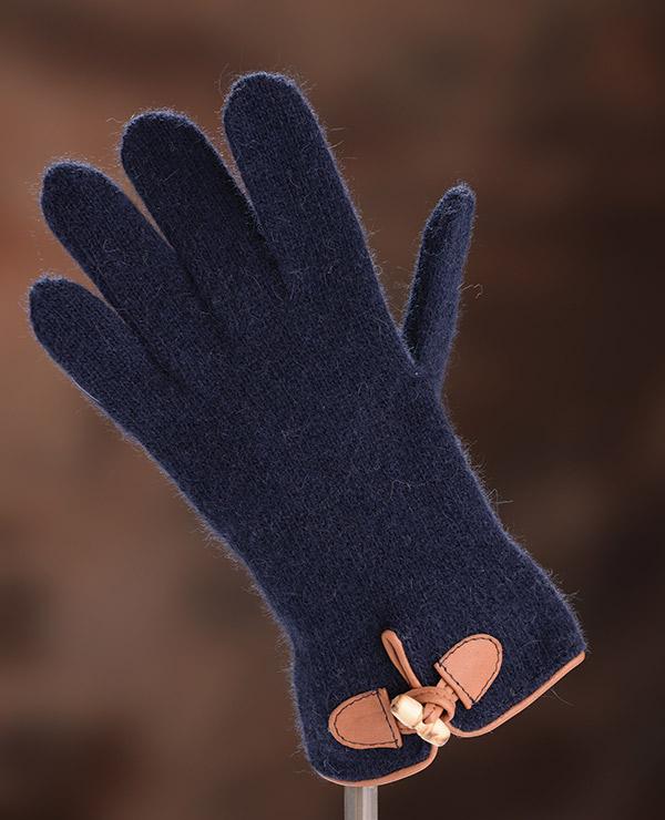 Iphigenie-Paris | Gant femme en cuir et laine
