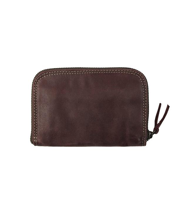 Porte monnaie et cartes pour femme en cuir de vachette BORDEAUX