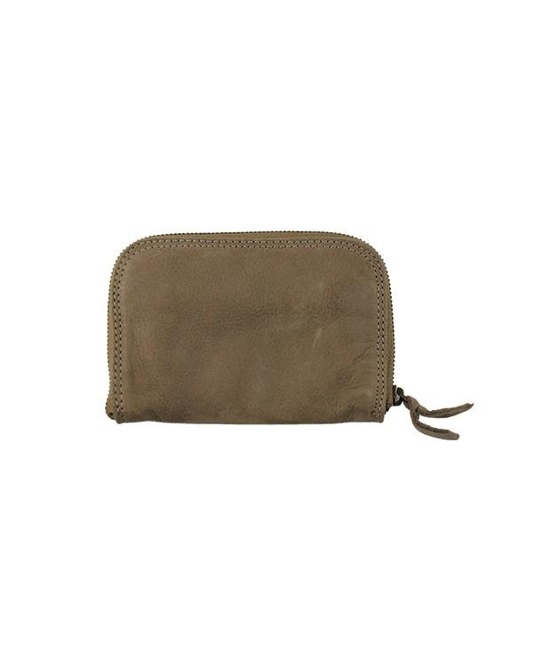 Porte monnaie et carte pour femme en cuir de vachette MARRON CLAIRE