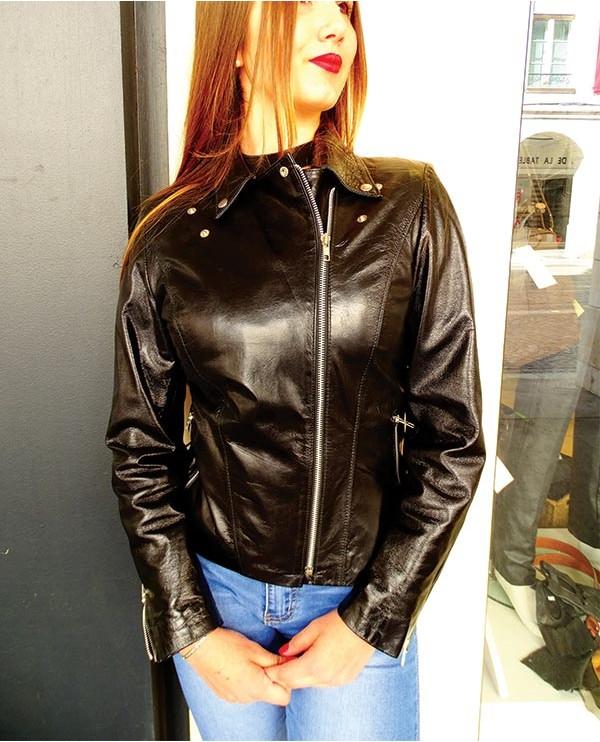Blouson PERFECTO cuir femme