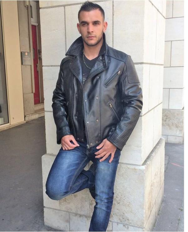 Iphigenie-Paris Blouson en cuir veau biker style Perfecto