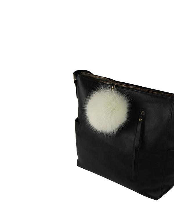 Iphigenie-Paris | Pompon bijou de sac à main couleur blanc