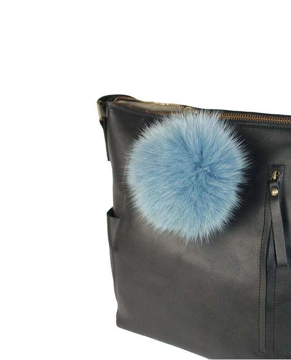 Iphigenie-Paris | Pompon bijou de sac à main couleur bleu ciel