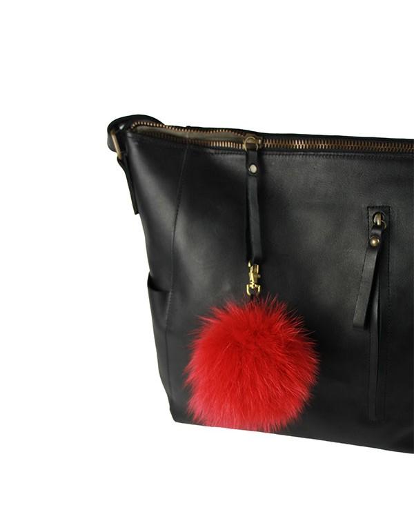 Iphigenie-Paris | Pompon bijou de sac à main couleur vieux rouge