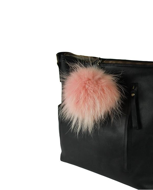 Iphigenie-Paris | Pompon bijou de sac à main couleur vieux rose