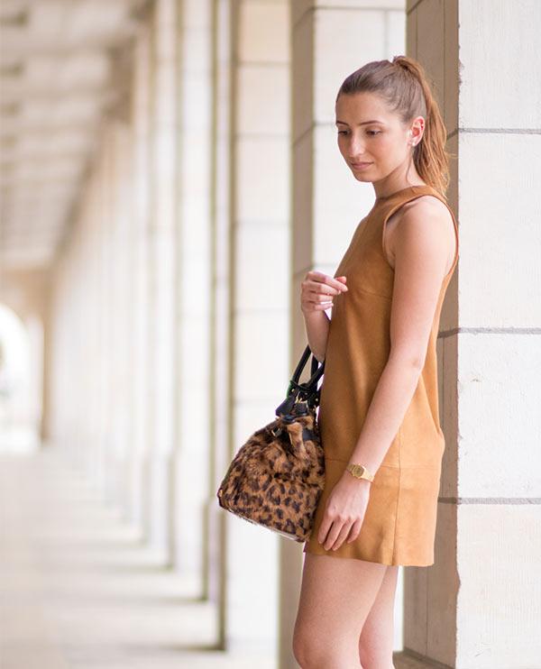 Robe cuir marron claire